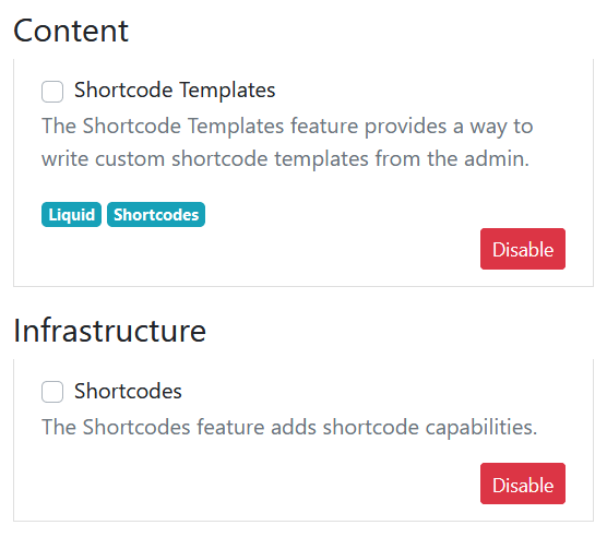 Shortcode Templates Feature in Orchard Core CMS