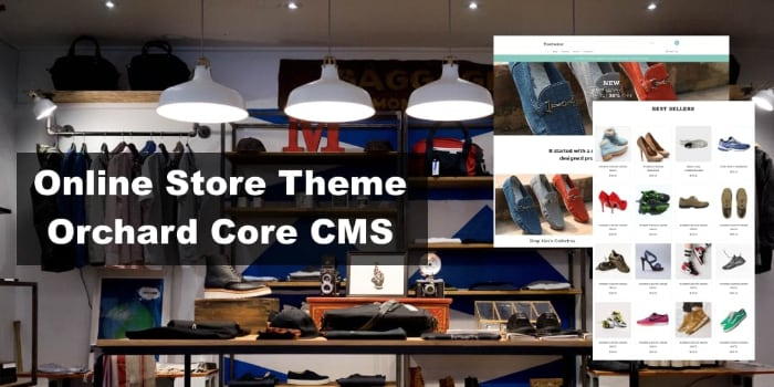 Online Store Theme for Orchard Core CMS