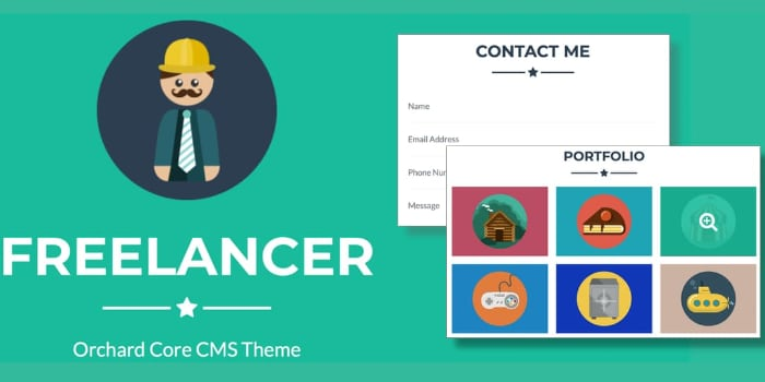 Orchard Core CMS Theme for Freelance Developers